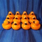12 Halloween Colors Mini Orange Rubber Ducks