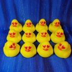 12 Mini Love Emoji Rubber Duck
