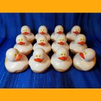 12 Halloween Ghost Rubber Ducks