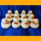 12 Halloween Mummy Rubber Ducks