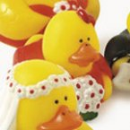 Flower Girl in Red Rubber Duck