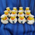 12 US Navy in Dress Whites Rubber Ducks