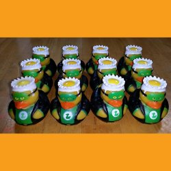 12 Super Hero Green Lantern Rubber Ducks