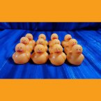 12 Orange Mini Neon Rubber Duck