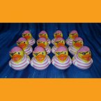 12 Girl Pirate Rubber Ducks Pink Stripes