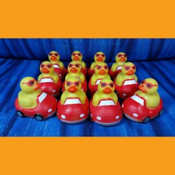 12 Car Rubber Ducks