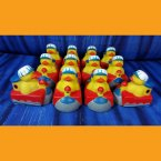 12 Train Rubber Ducks