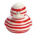 Candy Cane-Striped Rubber Duck