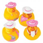 Pink Cowgirls Rubber Ducks