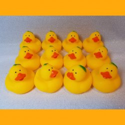 12 Peach Fruit Rubber Ducks