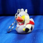 Retired Viking Warrior Woman Rubber Duck Key Chain