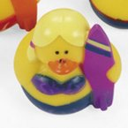 Purple Surfer Girl Rubber Duck