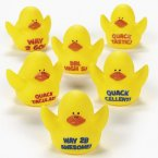 Motivational Rubber Ducks