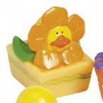 Orange Spring Flower Rubber Duck