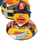 Firefighter Rubber Duck - District 5 with Hose