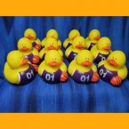 12 Basketball Rubber Duck - Purple and White