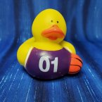 Basketball Rubber Duck - Purple and White