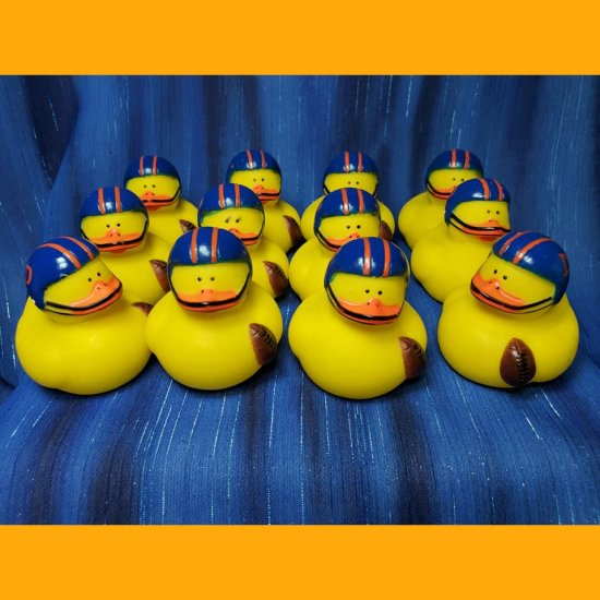 12 Football Rubber Ducks - Click Image to Close