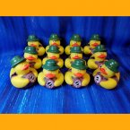12 US Military Field Logistics Camouflage Rubber Ducks