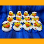 12 Nurse Sandy Rubber Ducks with Satchel