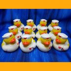 12 Nurse Terry Rubber Ducks with Thermometer