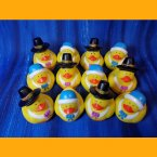 12 Thanksgiving Pilgrim Rubber Ducks