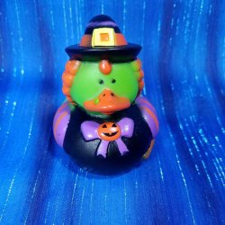 Halloween Costume Green Witch Rubber Duck