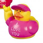 I Love You Pink Rubber Duck