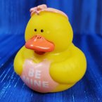 Valentine's Be Mine Pink Girl Rubber Duck