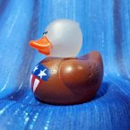 Patriotic Glow In the Dark Eagle Rubber Duck
