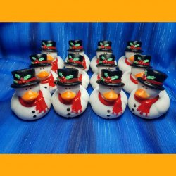 12 Christmas Frosty the Snow Duck