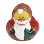 Retired Vintage Santa Claus with Christmas Tree Rubber Duck