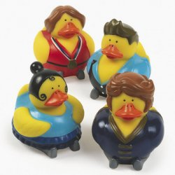 Retired Winter Ice Skater Rubber Ducks