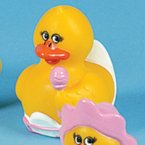 Retired Baby Girl Rubber Duck with Rattle