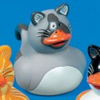 Cat Rubber Duck - Tom - Orange Beak