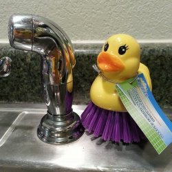 Kitchen Duck Scrubber Purple