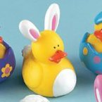 Easter Bunny White Rubber Duck