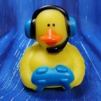 Blue Gamer Rubber Duck