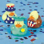 Patriotic Glow In the Dark Rubber Ducks