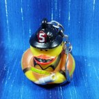 Fire Fighter Rubber Duck Key Chain