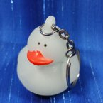Glow-in-the-Dark Rubber Duck Keychain