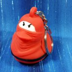 Red Ninja Rubber Duck Key Chain