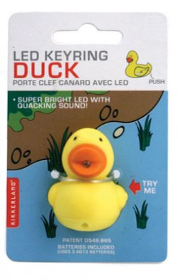 Duck LED Key Chain - Quacks!