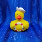 Navy Nautical Rubber Duck with Ring Buoy