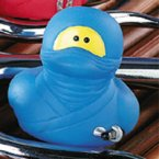 Ninja Rubber Duck with Sword in Blue