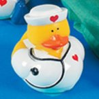 Nurse Nancy Rubber Duck with Stethoscope