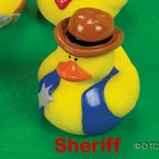 Old West Sheriff Rubber Duck