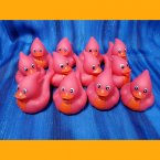 12 Dinosaur Rubber Duckie Red Jurassic Pterodactyl