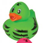 Green Zebra Rubber Duck