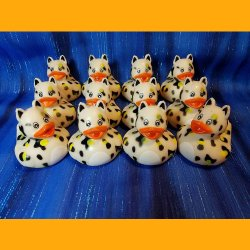 12 Zoo Animal Cheetah Rubber Ducky